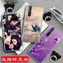 Vivo x27 phone case. vivox27a painted soft-edged V1829T cartoon female vovox27 personality creative voivx27 New Year viv0x27 bracket viix set viovx27 male.