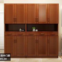 Shoe storage cabinet large capacity European pastoral storage cabinet entrance door Cabinet modern minimalist paint balcony cabinet