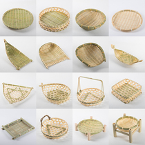 Bamboo sieve plastic home mini has holes in the household bamboo preparation creative decoration hand-drying.