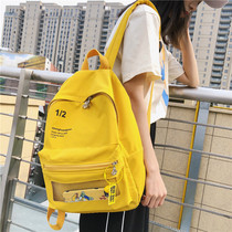 Vintage sense girl bag female Korean high school students Sen Department transparent backpack simple wild ins backpack