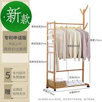 Nordic floor hangers corner coat rack home bedroom j room bedside cabinets multi-functional clothes rack solid wood frame