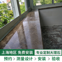 Natural marble countertops custom windowsill stone floating window threshold Stone Stone desktop custom artificial stone windowsill