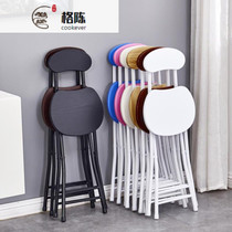 Dormitory can stack dining table and chairs folding chairs portable back small with back-to-back round stools single simple travel tour