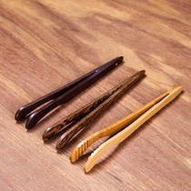 Tao Cheng Kung Fu tea accessories Ebony tea clip Cup clip Clip bamboo solid wood clip tea ceremony tea anti-hot tweezers