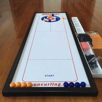 On the table shuffleboard ice arc ball roll plate Curling ice hockey table childrens Day gift toy table game leisure