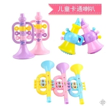 Whistle-blowing toddlers play the flute childrens baby safety toys blow air trumpet toy horn can blow the trumpet.