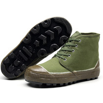 High waist liberation shoes men and women non-slip bottom low to help yellow rubber shoes military training shoes wear-resistant bottom work labor protection shoes deep help shoes