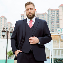 Mens suits suit large size occupation interview dress business wedding plus fat plus size fat suit male dress