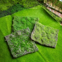 Honest with your Han refining simulation lawn turf green grass stone indoor horticultural decoration micro landscape shooting props