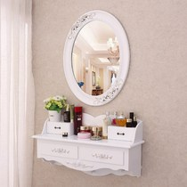 Wall-mounted makeup cabinet small apartment wall-mounted dresser hanging cabinet simple bedroom make-up closet mini make-up cabinet