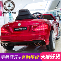 Mercedes-Benz electric car four-wheel toy car baby can sit baby baby rocking baby car remote control car