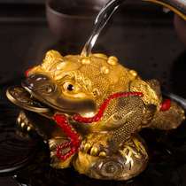 Tea ceremony accessories tea set tea tea play tea pet ornaments spray water-spraying gold-spraying money ornaments purple sand color change tea pet can be raised