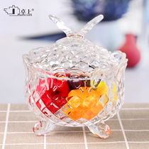 European creative Glass Candy Cup fashion butterfly small candy jar sugar jar dried fruit jar with lid candy box