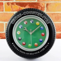 Leisure and entertainment billiard hall creative snooker wall clock alarm clock wall clock table clock table clock tire
