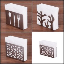 Western restaurant hotel napkin folder towel rack stainless steel square towel seat table paper tea restaurant vertical paper ⑦