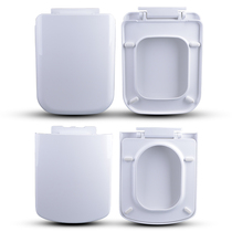 Thickened square toilet lid universal slow down household square seat cover a key coat toilet seat