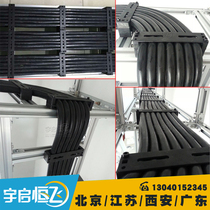 Yuqi hengfei steel matte black solid line device line cable management square cable stratified fixed pressure Line board
