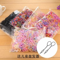 Not to hurt the hair childrens head rope baby rubber band color hair rope size rubber band Girl holster high comb