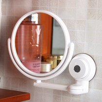 Sucker folding mirror wall hanging mobile bathroom adjustable bathroom Beauty Hotel Makeup Mirror Mirror free punch