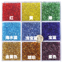 1 57 yuan 100 grams 3 ~ 6mm colored glass irregular grain transparent glass sand handmade glass