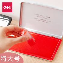 Effective large stamp pad red ink pad hand stamp seal quick-drying Red Hand Seal Press handprint fingerprint square seal with quick-drying inkpad and large oversized office printing oil non-blank