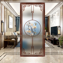 Modern Chinese art glass living room screen washbasin partition entry entrance wall frosted translucent simple