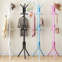 Simple coat rack floor hanging hanger bedroom hanger living room clothes rack steel pipe creative hanging rack simple modern