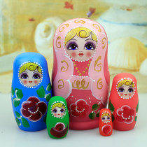 Russian set of 5 floors to send baby birthday gift creative color craft childrens cartoon toy Muwa.