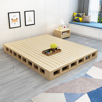 Bed shelf row skeleton 1 8 m economical solid wood bed board 1 5 M Wood Board hard Board mattress floor bed bed board