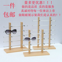 Glasses display Bracket Props single row small wooden eye display rack shelf hanging sunglasses display Frame
