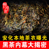 Buy 1 Get 5 free gift black tea Hunan Anhua black tea authentic wild cloud hand built Jinhua Fu brick tea Anhua Meishan