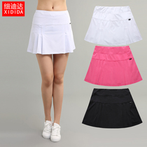 Summer white Womens new sports womens badminton tennis pants skirt quick dry breathable pleated running half skirt