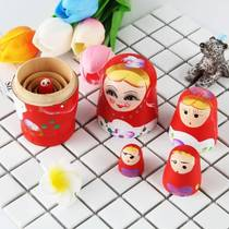 Matryoshka toy tumbler five-layer multi-layer decorative ornaments creative a candy parent-child game wooden early education