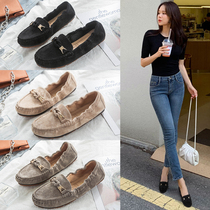 Black peas shoes womens shoes spring and autumn 2019 new wild soft bottom ladies shoes outside wear flat shoes
