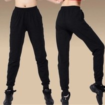 The new mens and womens all-purpose black dance pants clutch pants tight turnip pants exercise pants aerobics pants.