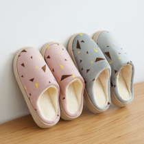 Cotton slippers Winter new home couple thick non-slip slippers female Home soft bottom shoes slippers