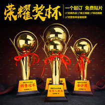 Trophy custom medals Custom Games competition honor lettering souvenirs creative production of metal crystal trophy