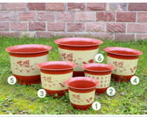 Home Jewelry flowerpot Large plastic oversized imitation ceramic round thickening home balcony dedicated clearance
