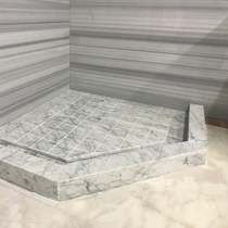 Marble countertops custom made natural window Stone artificial stone shower room non-slip stone pull groove floor