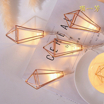 ins Nordic wind geometric lights string girl heart room decorative lights bedroom stars lights romantic led small lights