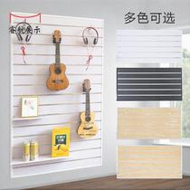 Musical instruments piano row guitar decorative wall slot board mobile phone accessories display cabinet jewelry tools wooden Cao hanging plate shelves