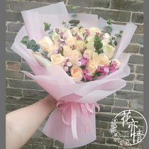 Adaptation carnation Lily Rose bouquet gift box flower delivery with the city of Luzhou Chengdu Nanchong Leshan Valentines day