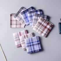 10 loaded cotton nostalgic handkerchief mens Adult square towel small women sweat-absorbent handkerchief old nostalgia