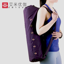 Amy Yuga wear-resistant breathable cotton canvas straight yoga mat backpack lightweight fashion fitness equipment collection bag
