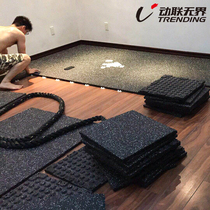 Gym Floor Cushion damping pad rubber pad household indoor tile strength area soundproof pad Dumbbell pad thickened outdoor