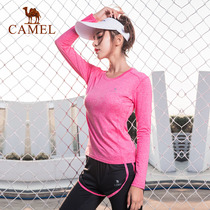 (2018 New) camel yoga clothing sports T-shirt fitness trousers women fall running quick-drying suit