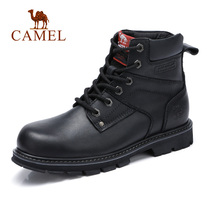 Camel mens shoes 2018 autumn and Winter new fashion casual Martin boots comfortable leather high anti-skid Martin boots mens boots