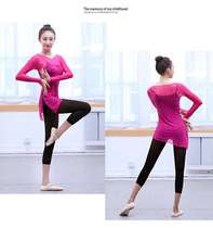 Classical dance practice clothes Han and Tang Chinese style body suit body aerobics ballet gauze shirt adult female