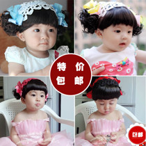New Korean version of baby hair band baby wig Liu Hai hair with little girl wig headdress jewelry Korea