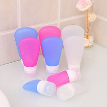 Portable easy squeeze travel silicone cosmetic delivering Bottle Shampoo Shower Gel small bottle delivering empty bottle